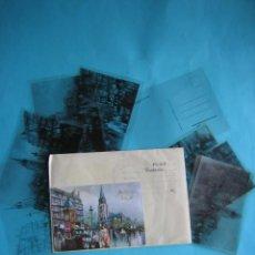 Postales: TARJETA POSTAL ROMANTICA DE FELICITACION + FOTOLITOS + SOBRE DE LA IMPRENTA - AÑOS 90 - VER FOTOS. Lote 149258638