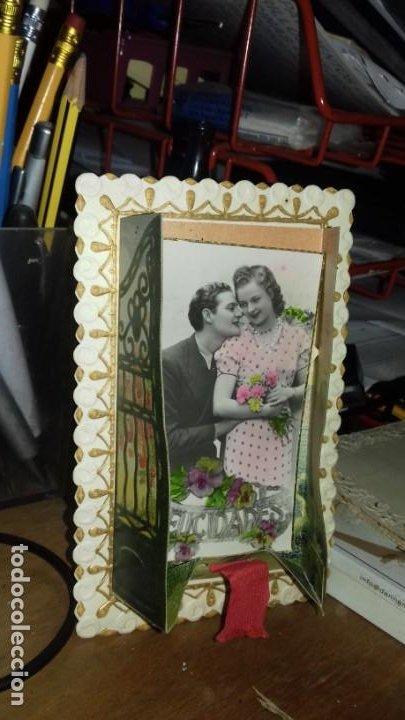 Postales: FELICITACIÓN ROMANTICA CON MOVIMIENTO. POSTALES MÁRGARA. FABRICACIÓN ESPAÑOLA - Foto 2 - 150302866