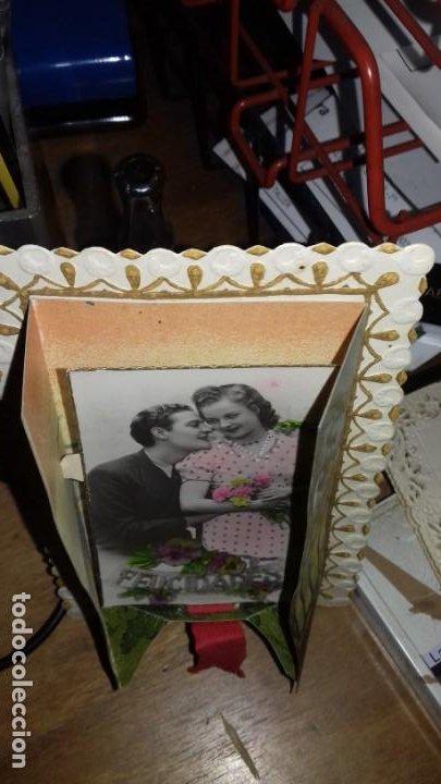 Postales: FELICITACIÓN ROMANTICA CON MOVIMIENTO. POSTALES MÁRGARA. FABRICACIÓN ESPAÑOLA - Foto 3 - 150302866