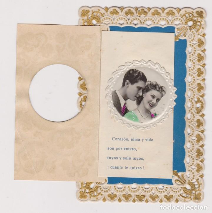 Postales: BONITA FELICITACIÓN ROMANTICA CALADA. POSTALES MÁRGARA .AÑOS 20 - Foto 2 - 150304090