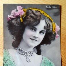 Postales: POSTAL GLAMOUR COLOREADA ACTRIZ MISS GERTIE MILLAR ED. AL E.257. Lote 150478638