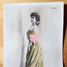 Postales: POSTAL COLOREADA GLAMOUR DE CECILE SOREL ACTRIZ REUTLINGER PARIS S.I.P. 1904. Lote 150479354