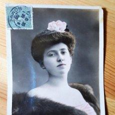 Postales: POSTAL COLOREADA GLAMOUR PAULE ANDRAL ACTRIZ FRANCESA REUTLINGER PARIS S.I.P. 1905. Lote 150479738