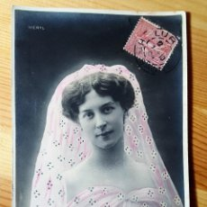 Postales: POSTAL COLOREADA GLAMOUR ARTISTA MERYL STEBBING PARIS 1904 SERIE VER FOTO TRASERA. Lote 150481498