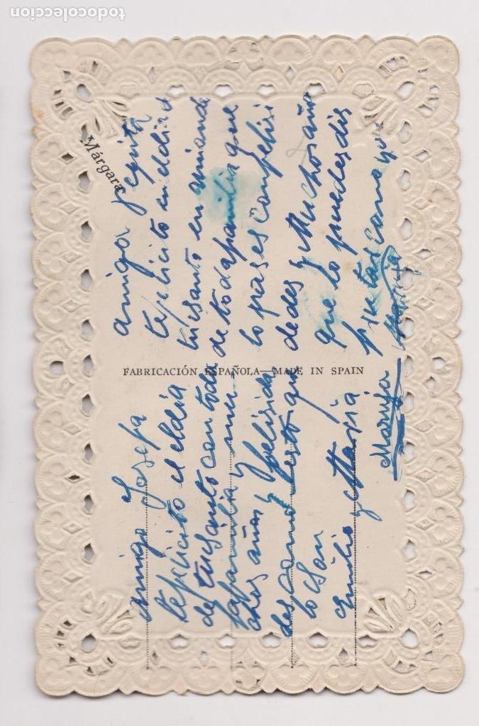 Postales: BONITA FELICITACIÓN ROMANTICA CALADA. POSTALES MÁRGARA .AÑOS 20 - Foto 3 - 150304090