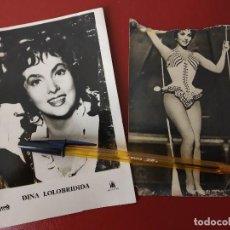 Postales: GINA LOLLOBRIGIDA, 2 ANTIGUAS TARJETAS.. Lote 150681354