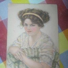 Postales: POSTAL ANTIGUA AMERICAN GIRL 116 EDWARD GROSS NY. Lote 152608194