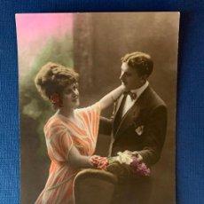 Postales: ANTIGUA TARJETA POSTAL COLOREADA - PAREJA - ED. PC PARIS 1. ESCRITA 1919.. Lote 153394766