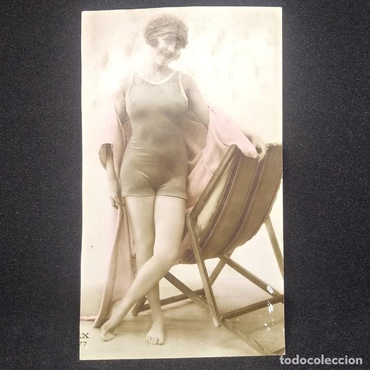 Chica en Bañador. Postal francesa - 147715154