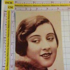Postales: POSTAL DE GALANTES MUJERES. AÑO 1931. ROSTRO DE MUJER JOVEN. 1750. Lote 154437486