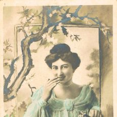 Postales: POSTAL ROMANTICA FRANCESA CIRCULADA EN 1905, (VER EL DORSO). Lote 155642966