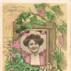 Postales: POSTAL ROMANTICA FRANCESA CIRCULADA EN 1908, (VER EL DORSO). Lote 155643534