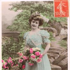 Postales: POATL ROMANTICA FRANCESA. TE OFREZCO MI AMISTAD. Lote 155647042