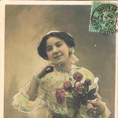 Postales: POATL ROMANTICA FRANCESA. MIL BESOS DE LA TOURAINE, CIRCULADA EN 1907 (VER EL DORSO). Lote 155647326