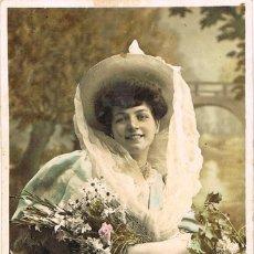Postales: POSTAL ROMANTICA FRANCESA: CIRCULADA EN 1906 (VER EL DORSO) . Lote 155648178