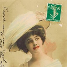 Postales: POSTAL ROMANTICA FRANCESA: COLOREADA A MANO. Lote 155650578
