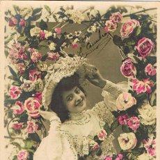 Postales: POSTAL ROMANTICA FRANCESA: MI CORAZÓN FLORECIÓ EN UNA SONRISA, CIRCULADA EN 1907, VER EL DORSO. Lote 155651710