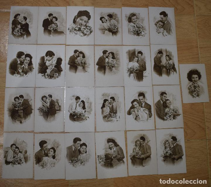 25 POSTALES ORIGINALES ANTIGUAS ROMANTICAS (Postales - Postales Temáticas - Galantes y Mujeres)