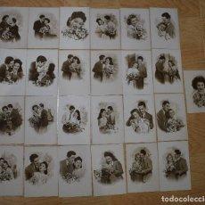 Postcards - 25 postales originales antiguas romanticas - 155987282