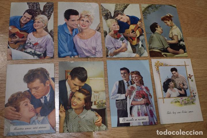 8 POSTALES ORIGINALES ROMANTICAS AÑOS 50 (Postkarten - Thematische Postkarten - Galante und Frauen)