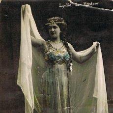 Postales: POSTAL ROMANTICA FRANCESA: LA ACTRIZ DE TEATRO Y VARIETES LYDIA DE ROSTOW, CIRCULADA EN 1908. Lote 156203134
