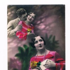 Postales: POSTAL ROMANTICA DAMA CON CARTA - COLOREADA. Lote 158298190