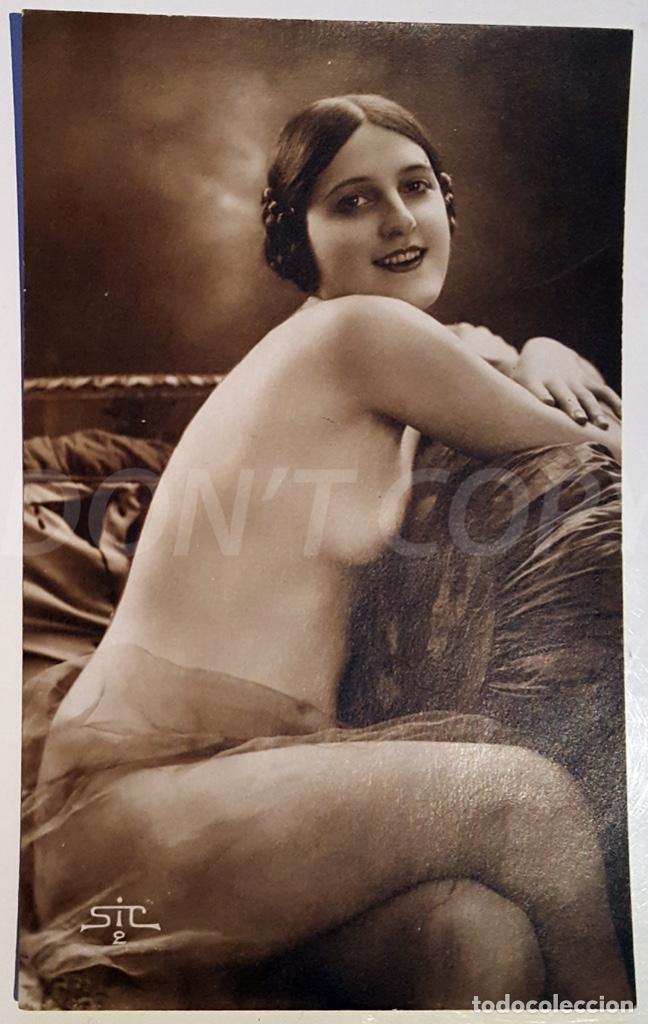 Postales: 8 VINTAGE REAL PHOTO POSTCARDS ARTISTIC NUDES. SIC (France). UNUSED!!! - Foto 2 - 158694906