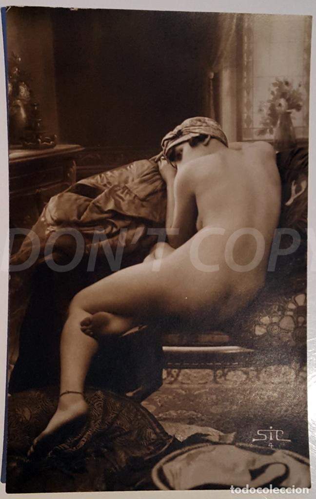 Postales: 8 VINTAGE REAL PHOTO POSTCARDS ARTISTIC NUDES. SIC (France). UNUSED!!! - Foto 4 - 158694906