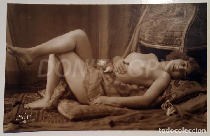 Postales: 8 VINTAGE REAL PHOTO POSTCARDS ARTISTIC NUDES. SIC (France). UNUSED!!! - Foto 6 - 158694906