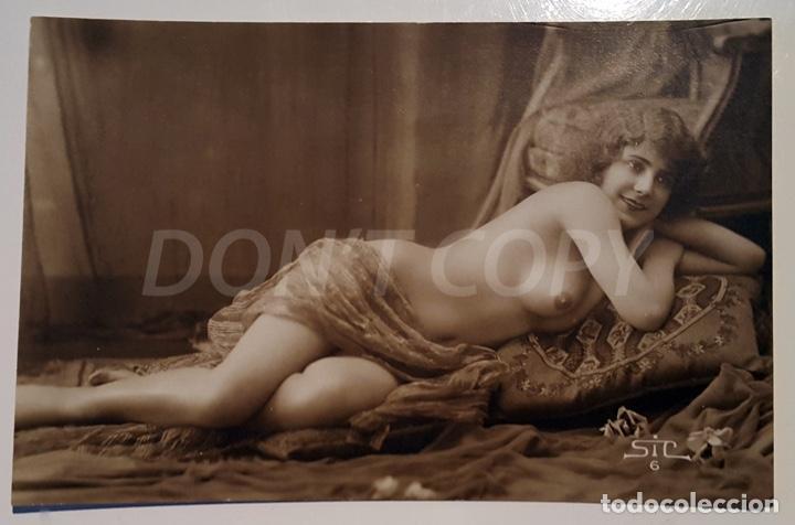 Postales: 8 VINTAGE REAL PHOTO POSTCARDS ARTISTIC NUDES. SIC (France). UNUSED!!! - Foto 7 - 158694906