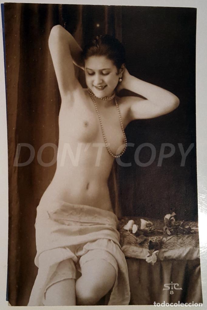 Postales: 8 VINTAGE REAL PHOTO POSTCARDS ARTISTIC NUDES. SIC (France). UNUSED!!! - Foto 8 - 158694906