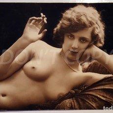 Postales: 4 FOTOS ANTIGUAS DE DESNUDOS ARTISTICOS. LÉO (FRANCE). SIN USO.. Lote 158696186