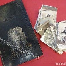 Postales: GRAN LOTE 180 POSTALES ROMANTICAS Y MUJERES DE ÉPOCA CON ALBUM ORIGINAL. AÑOS 1900-1920S. Lote 159669754