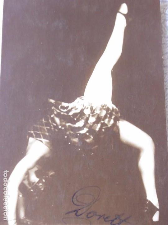 Postales: P-9304. POSTAL FOTOGRAFICA FIRMADA DE LA BAILARINA DORETT RELMS. TANZSTAR POSTALES. AÑO 1925. - Foto 2 - 159969394