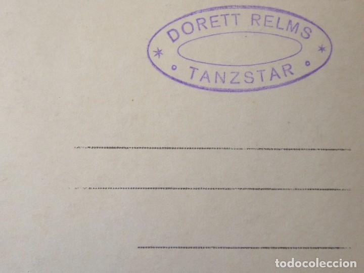 Postales: P-9304. POSTAL FOTOGRAFICA FIRMADA DE LA BAILARINA DORETT RELMS. TANZSTAR POSTALES. AÑO 1925. - Foto 3 - 159969394