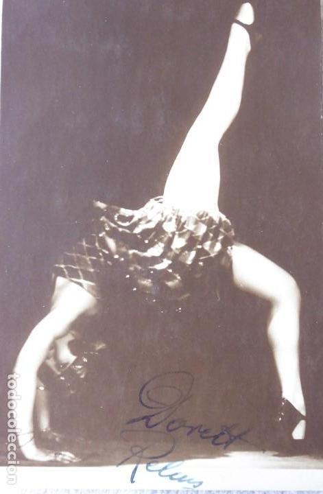 P-9304. POSTAL FOTOGRAFICA FIRMADA DE LA BAILARINA DORETT RELMS. TANZSTAR POSTALES. AÑO 1925. (Postales - Postales Temáticas - Galantes y Mujeres)