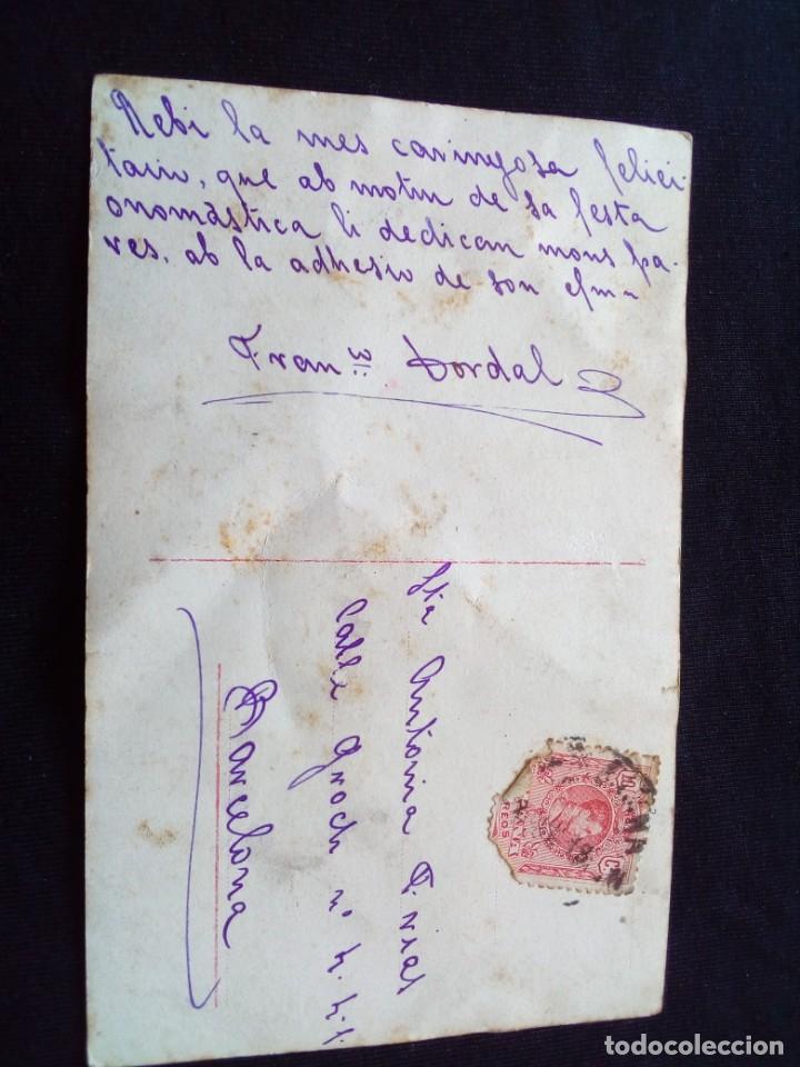 Postales: Antigua postal romántica circulada - Foto 2 - 160984454