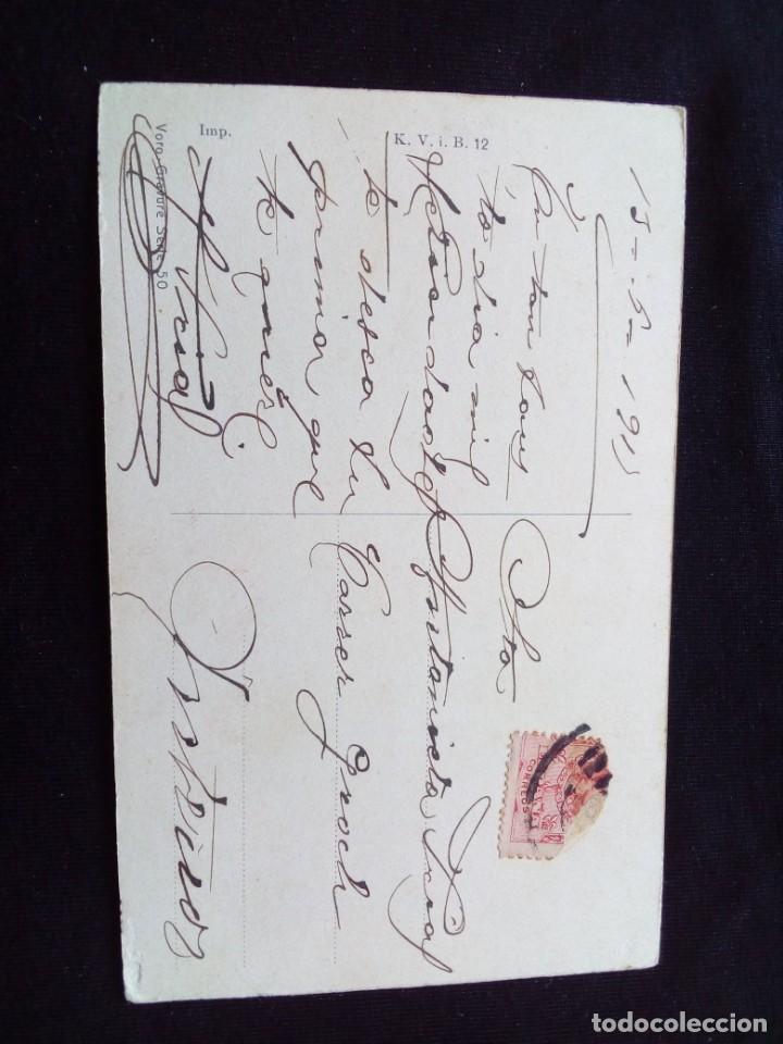 Postales: Antigua postal romántica circulada - Foto 2 - 160984814