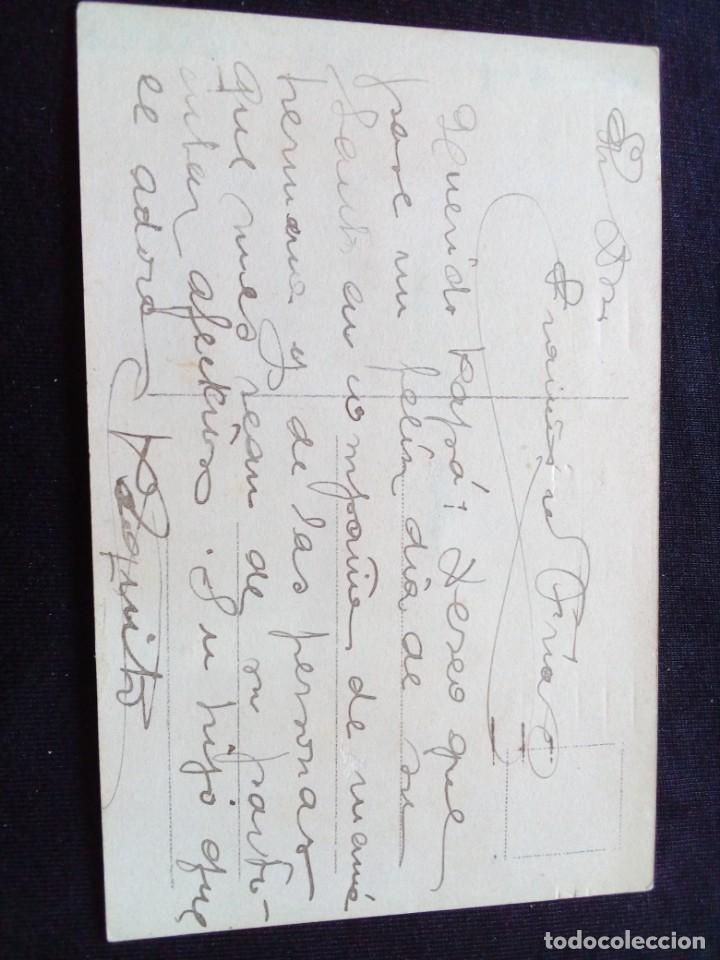 Postales: Antigua postal romántica coloreada escrita - Foto 2 - 160991302