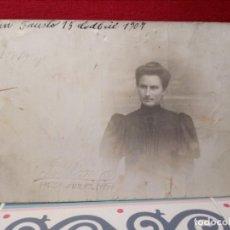 Postales: ANTIGUA POSTAL (AÑO 1907) SIN CIRCULAR PERO ESCRITA CON POEMA - MUJER (ROSA SOLÉ) - REF: 159/169. Lote 162326154