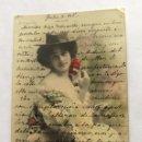 Postales: POSTAL FOTOGRÁFICA COLOREADA. ARTISTA CUPLETISTA. SAGRARIO ÁLVAREZ.. Lote 164843650