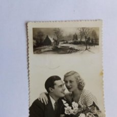 Postales: ANTIGUA TARJETA POSTAL - 1940 ROMÁNTICA - FELICIDADES - FOTOGRAFIA - PAREJA DE NOVIOS - PD 1223/1. Lote 165847530