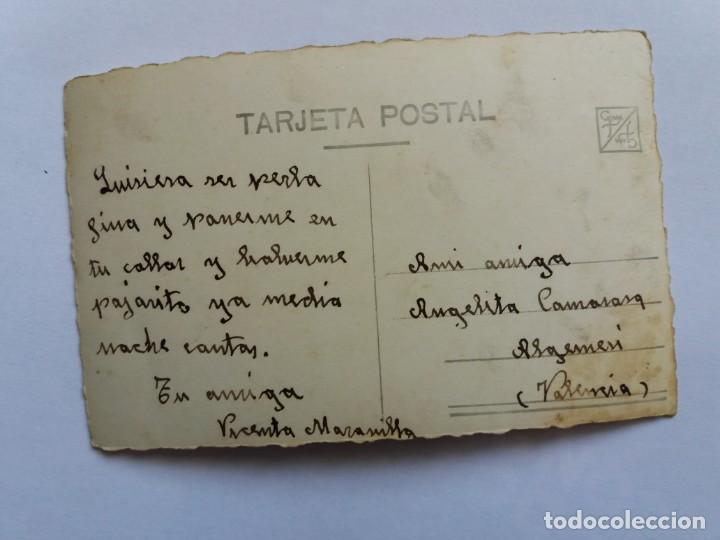 Postales: ANTIGUA TARJETA POSTAL - ROMÁNTICA - FELICIDADES - FOTOGRAFIA - PAREJA DE NOVIOS - MARGARA 877 - Foto 2 - 165847942