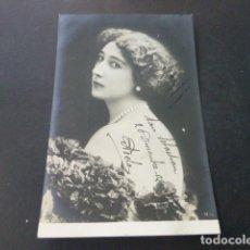 Postales: LA BELLA OTERO CAROLINA OTERO VALGA PONTEVEDRA POSTAL ARTISTA TEATRO 1902. Lote 165949182