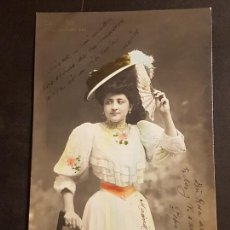 Postales: CONCHITA ORIA LENGUAJE DEL ABANICO ES USTED FEO ARTISTA ACTRIZ CUPLETISTA TEATRO POSTAL. Lote 166072874