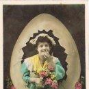 Postales: SOLO UN DULCE BESO LE PODRIA ROMPER, CIRCULADA EN 1908. Lote 167836328