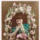 Postales: UN BESO POR TU CUMPLEAÑOS, CIRCULADA EN 1908. Lote 167836636