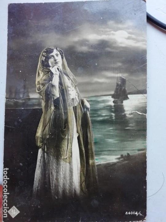 ANTIGUA POSTAL EDICION ITALIANA M S 4005/1 CIRCULADA, ESCRITA (Postales - Postales Temáticas - Galantes y Mujeres)