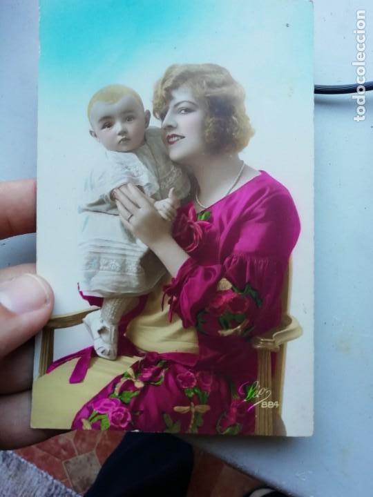 POSTAL LEO 884 MUJER NIÑO (Postales - Postales Temáticas - Galantes y Mujeres)