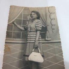 Postales: FOTOGRAFIA POSTAL MUJER ELEGANTE. Lote 169417280
